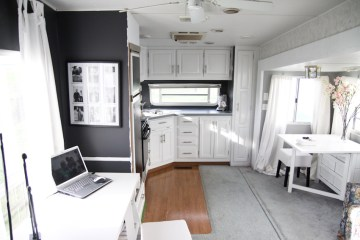 Modern Camper Kitchen Makeover