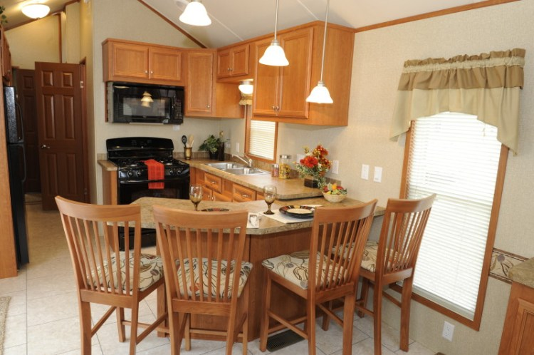 A look at park model homes for Model home dining room