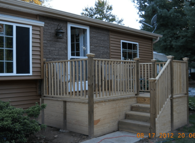 Double wide exterior remodel mobile manufactured home for Single wide mobile homes with front porches