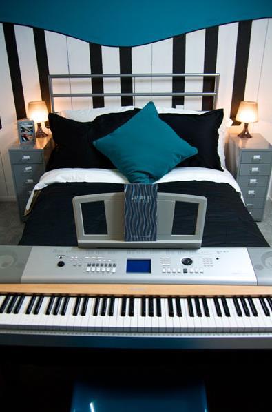 kids bedroom ideas - music
