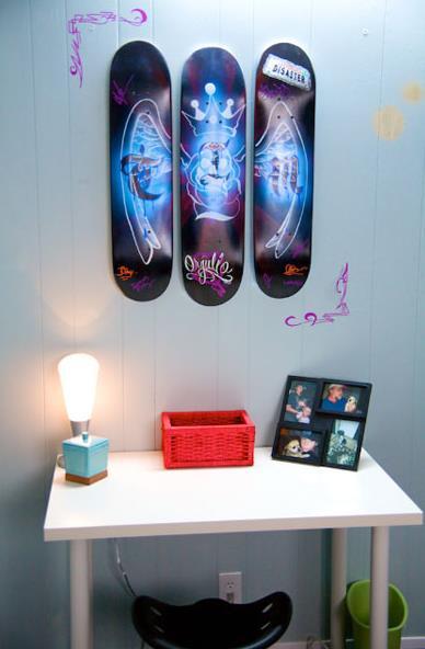 kids bedroom ideas - skateboard