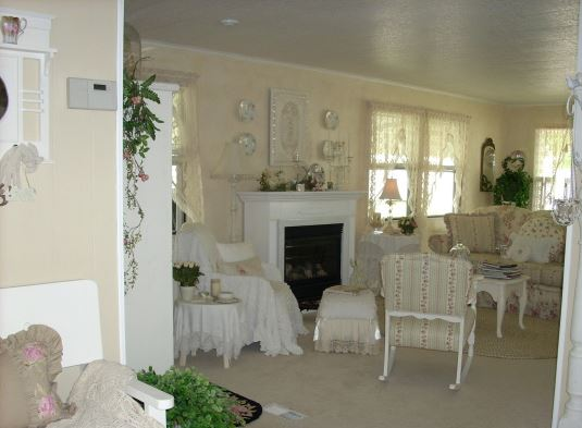 Charming cottage style manufactured home - Charming romantic living room ideas and decorating tips ...
