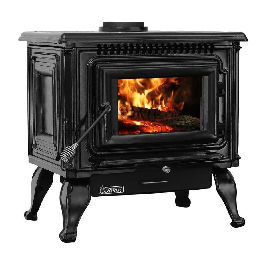 Peachy Ashley Hearth Products Epa Certified Black Enameled Porcelaincast Iron Wood Shop Ashley Hearth Products Epa Certified Black Wood Stove Hearth Diy Wood Stove Hearth Designs houzz-02 Wood Stove Hearth