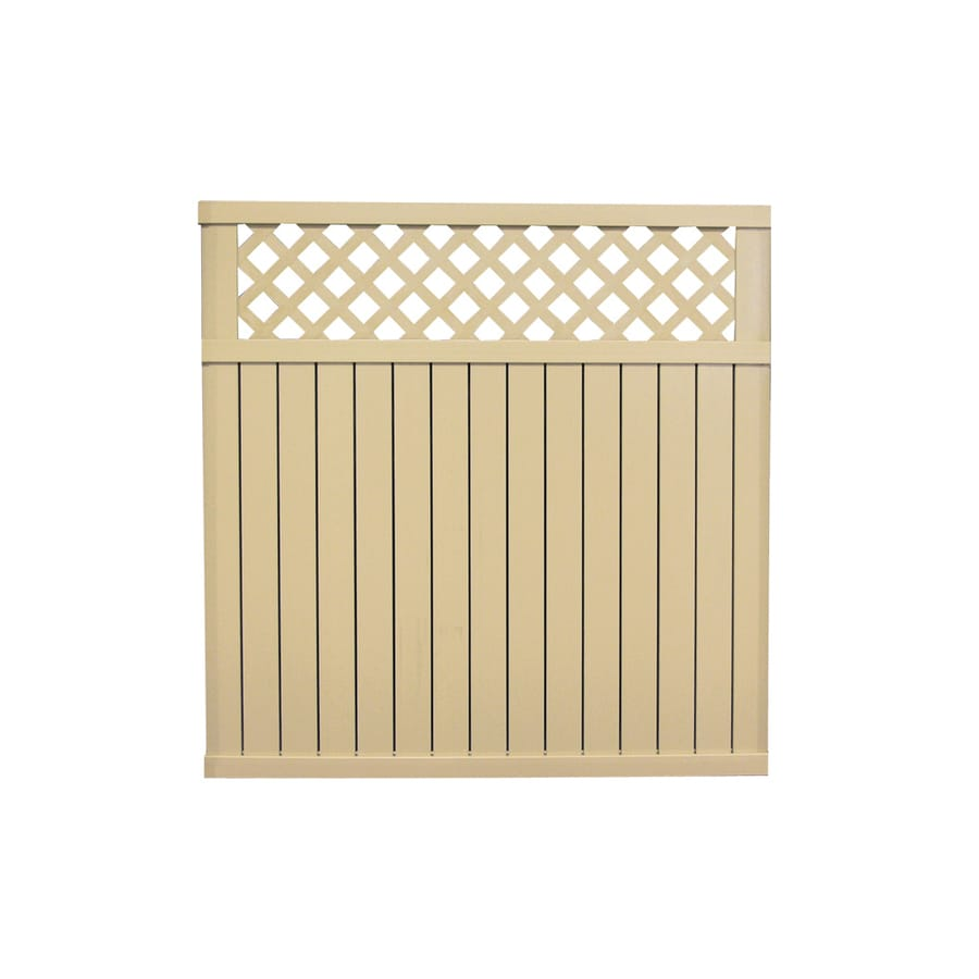 Smart Freedom X Beige Privacy Vinyl Fence Panel Shop Freedom X Beige Privacy Vinyl Fence Panel Vinyl Fence Calculator Lowes Vinyl Fence Brackets Lowes houzz 01 Vinyl Fencing Lowes