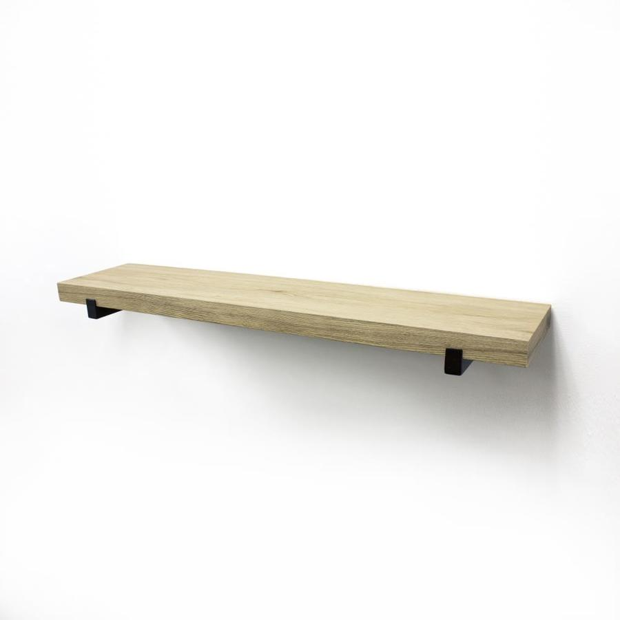 Ideal Allen Roth W X H X Shop Wall Mounted Shelving At Wood Wall Mounted Tv Shelf Wood Wall Mounted Microwave Shelf interior Wood Wall Mounted Shelf