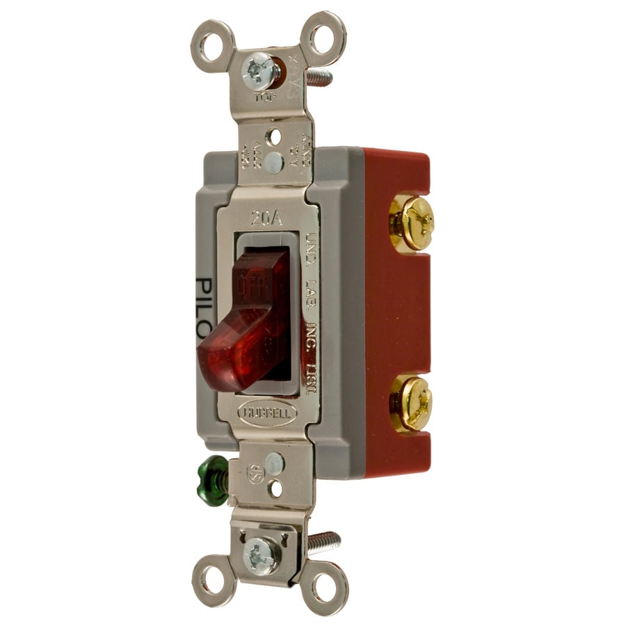 Cozy Led Bulbs Hubbell Single Pole Red Toggle Light Switch Shop Hubbell Single Pole Red Toggle Light Switch At Illuminated Light Switch Blinking Illuminated Light Switch houzz 01 Illuminated Light Switch
