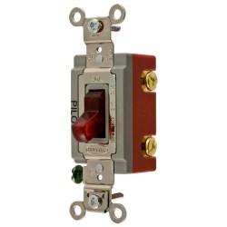 Small Crop Of Illuminated Light Switch