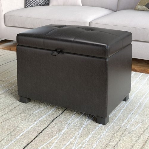 Medium Crop Of Leather Storage Ottoman