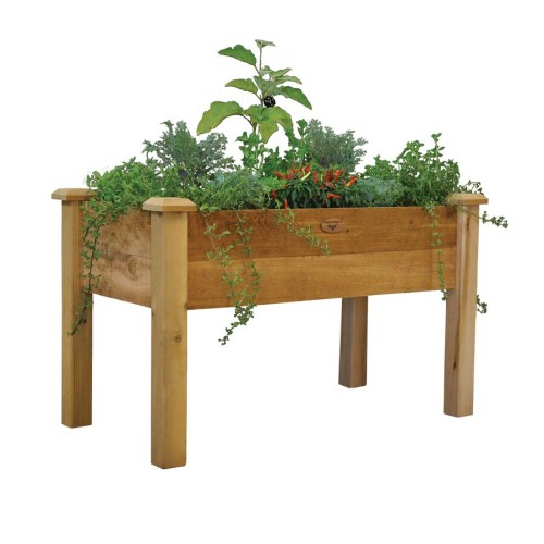 Medium Of Wooden Herb Garden Planters