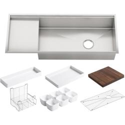 Lovable Drainboard Lowes Sink Drainboard Size Kohler Stages X Stainless Steel Stainless Steel Shop Kohler Stages X Stainless Steel Sink houzz 01 Sink With Drainboard