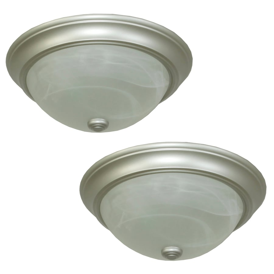 brushed nickel flush mount ceiling light soul speak designs kitchen flush mount lighting Shop Flush Mount Lights At Lowescom
