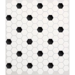 Small Crop Of Black And White Tile