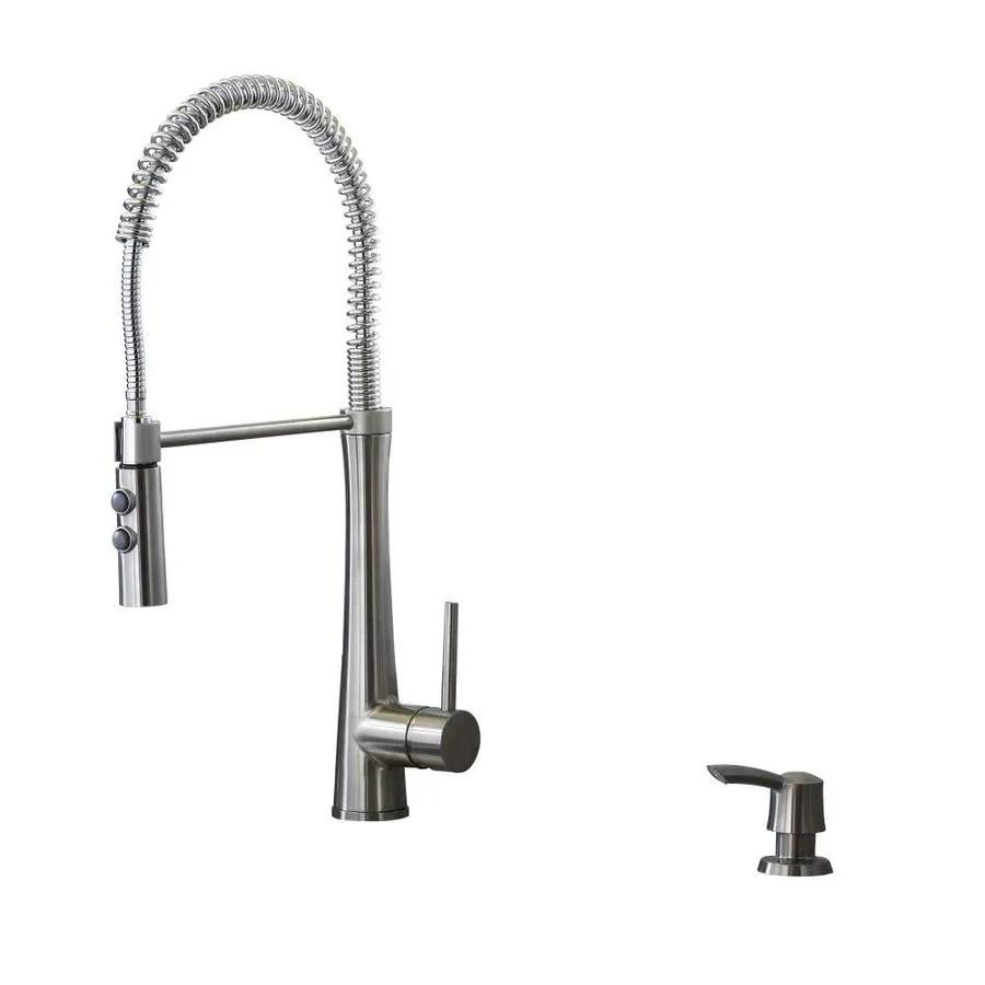 lowes delta kitchen faucet Giagni Fresco Stainless Steel 1 Handle Pre rinse Deck Mount Kitchen Faucet