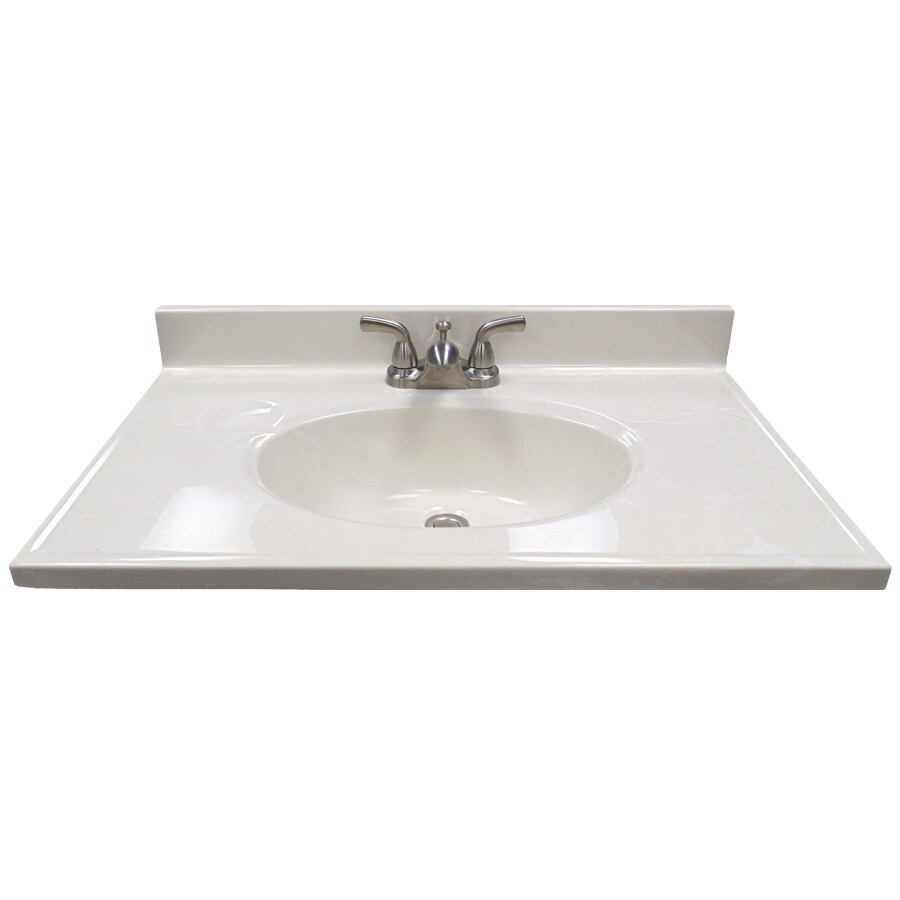 Appealing Us Marble Ambassador On Cultured Marble Integral Single Sink Bathroomvanity Shop Bathroom Vanity S At Lowe S Canada Bathroom Vanity S Lowes Custom Bathroom Vanity S houzz-02 Lowes Bathroom Vanity Tops