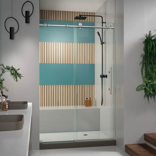 Medium Of Frameless Pivot Shower Door