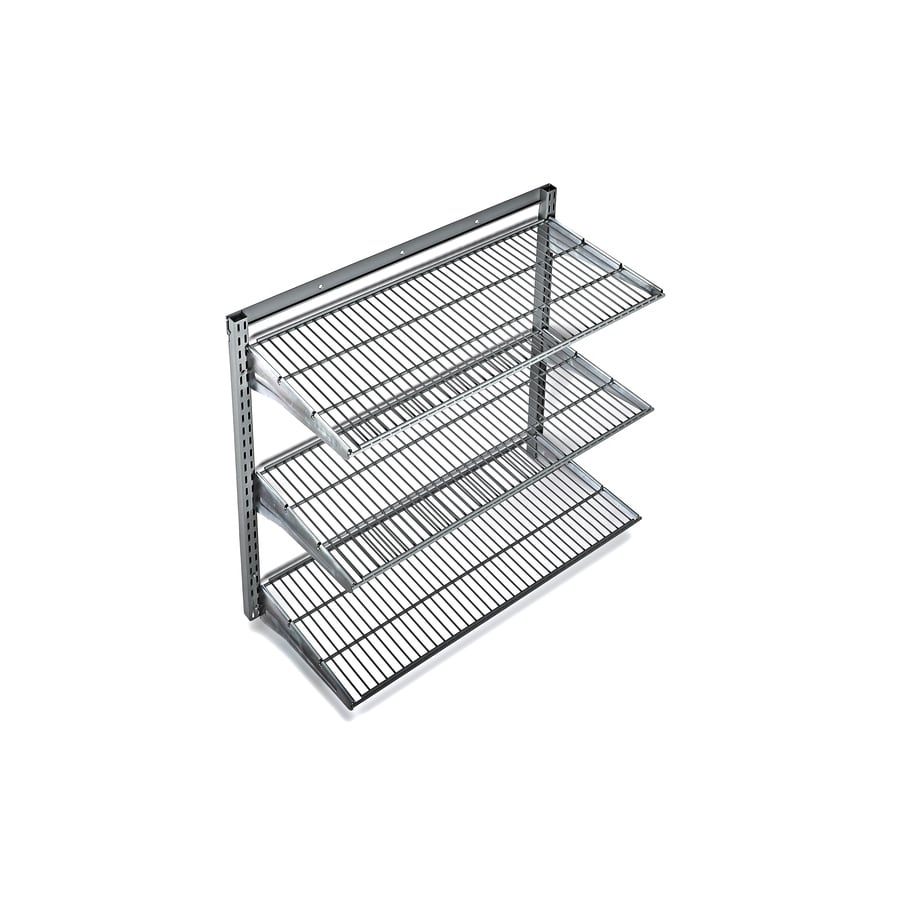 Thrifty Wall Mounted Product Image Storability W X H D Steel Shop Storability W X H X D Steel Wall Mounted Metal Wall Storage Shelf Wall Mounted Metal Storage Shelves interior Metal Wall Storage Shelves