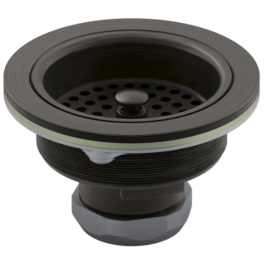 oil rubbed bronze basket strainer kitchen sink kohler kitchen sink Kohler 4 5 In Kitchen Sink Strainer At Lowes