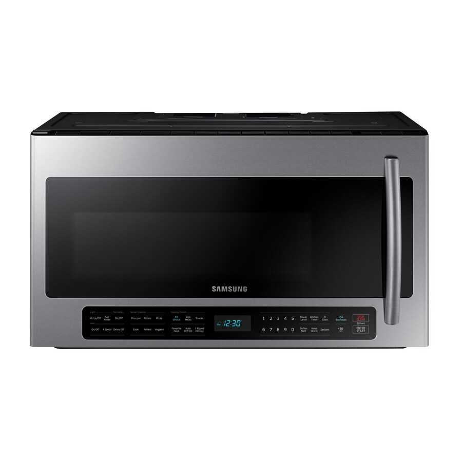 Best Sensor Cooking Controls Shop Microwaves At Microwave Above Stove Installation Microwave Above Stove Fan Samsung Ft Microwave houzz-02 Microwave Above Stove