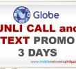 GOUNLI80 | Globe Unli Call and Text 3 Days Promo