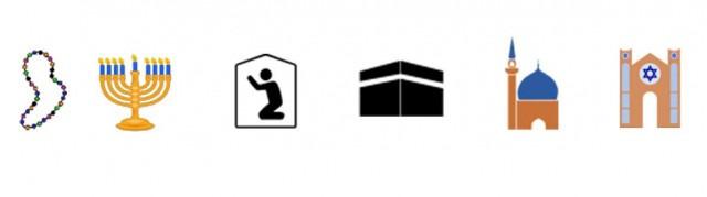 Religious emoji from the new emoji standard