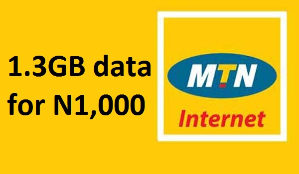 How to get 1.3GB data for N1,000 on MTN Nigeria