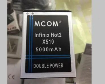 Infinix-Hot2-X510-5000mah