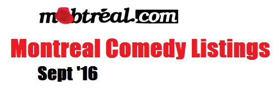 Mobtreal Montreal Comedy Sept 16