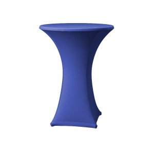 Blue Lyrca Spandex Table Hire 2
