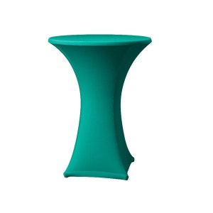 Turquiose Lyrca Spandex Table Hire 2