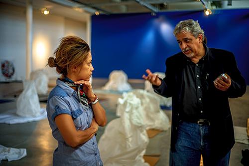 Marielle and Jorge during Acta Non Verba Installation