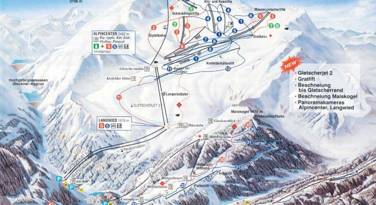 Kaprun_Ski_Map