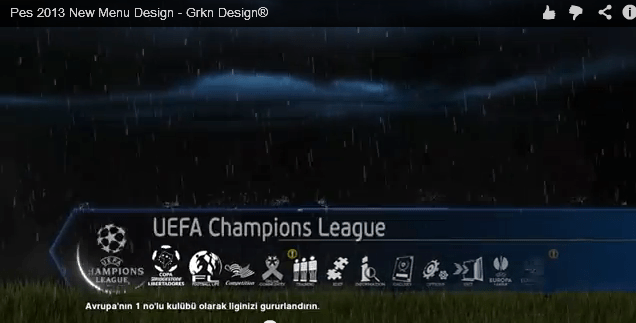 pes 2013 menu animation
