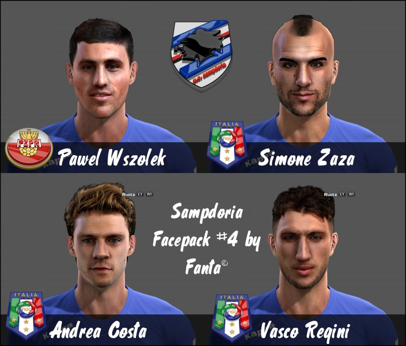 pes 2013 sampdoria face pack