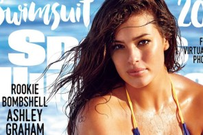 Plus size model Ashley Graham on the cover of Sports illustrated
