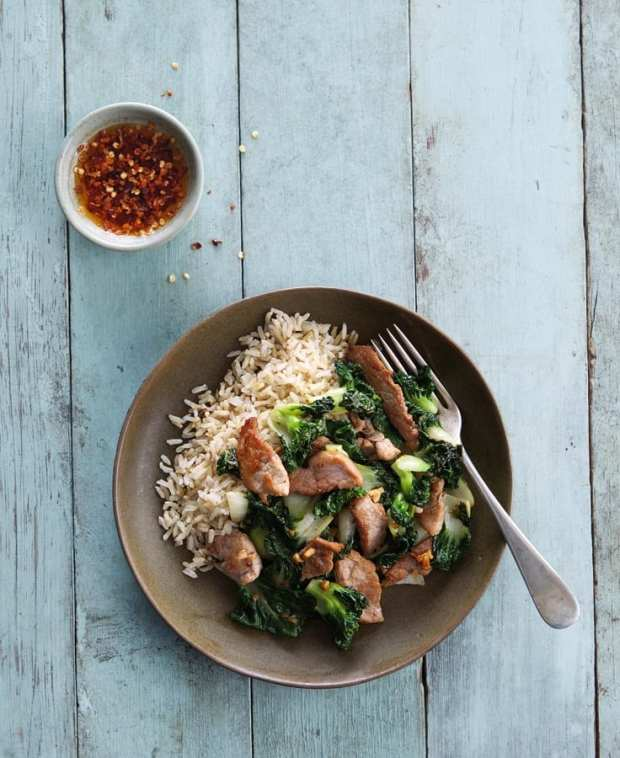 Stir-Fried Pork & Bok Choy
