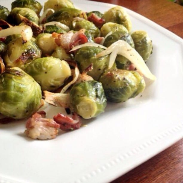 Roasted Brussels & Bacon recipe up on the blog! Yes please.
