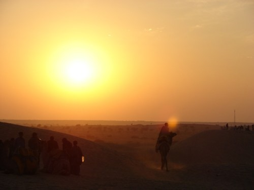 Riding Into the Sunset, Jaisalmer