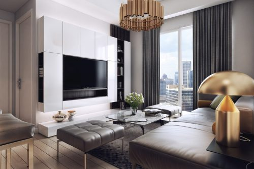 Medium Of Dark Modern Bedroom