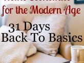 Intro | 31 Days - Back to Basics
