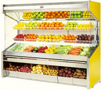 Curved Glass Deli Cases Fast Food Display Cabinets