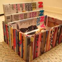 DIY Recycled Magazine Box