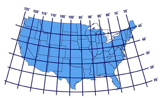 Map Us Latitude: Us Longitude And Latitude Map At Slyspyder.com
