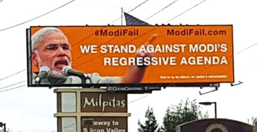 #ModiFail billboard with context
