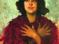 Leopoldo Romañach, Muchacha (Young Lady), c. 1930, oil on canvas, 25½ x18½ inches. Private Collection, Miami, Florida. Image courtesy of Cernuda Arte.