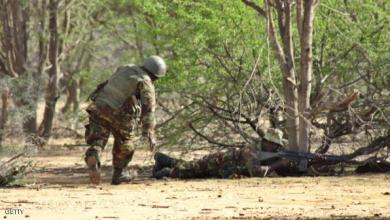 Kenyan soldiers advance near Liboi in So