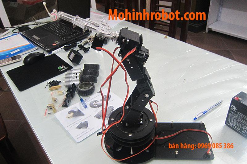 Cánh tay robot bậc tự do Ổ bi xoay servo mg giá