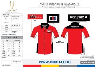 Jual Kemeja Kerja Bank BPR NBP 2 Bogor