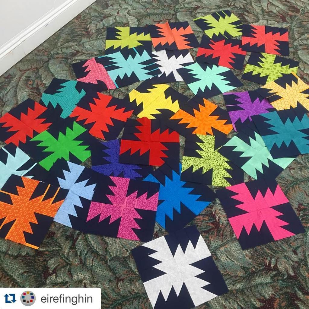 Well isnt that a wonderful pile of pretty?! tidalpoolquilt eirefinghinhellip