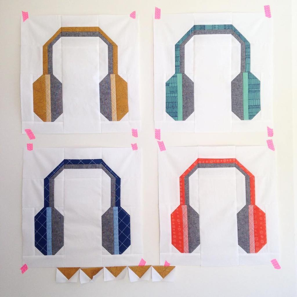 HeyMrDJquilt is getting some additional spins! Love the carolynfriedlander fabrichellip