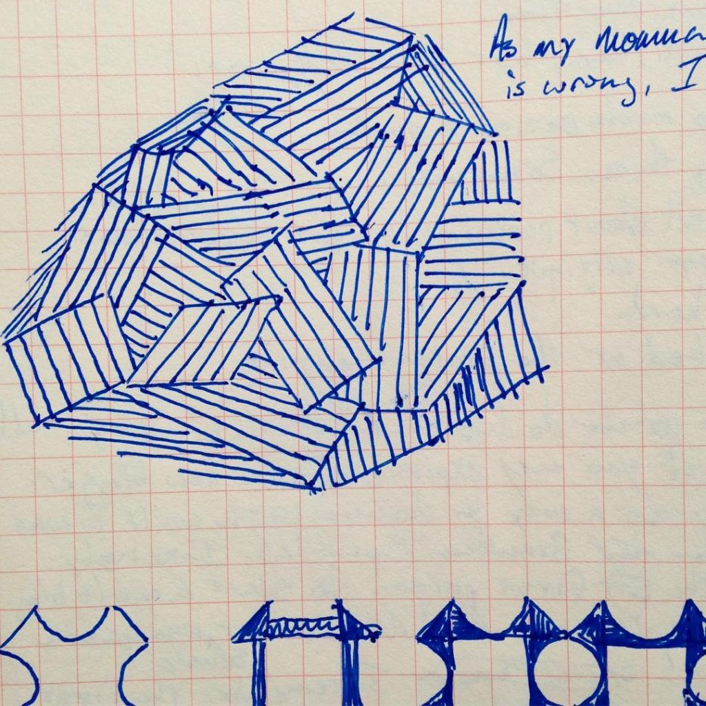 This is the sketch of the quilting motif I createdhellip
